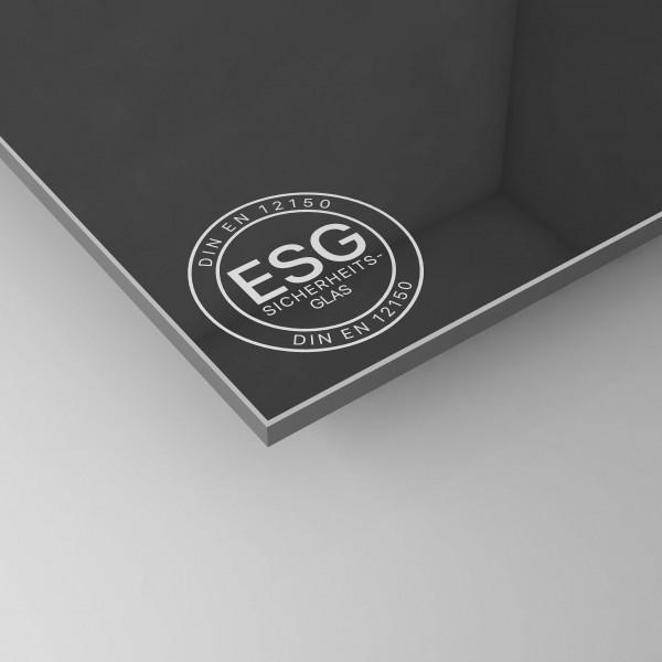 ESG Glas SATINATO nach Maß - Schwarz lackiert