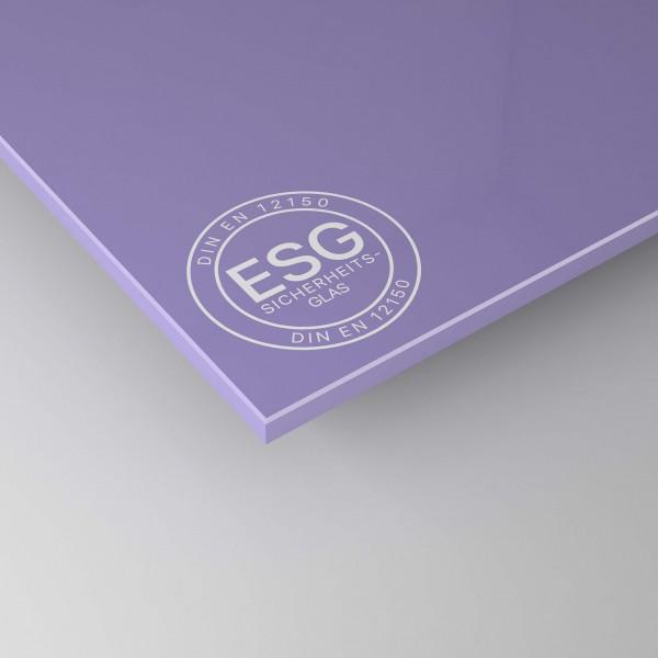 ESG Glas SATINATO lackiert - Lila / Violett