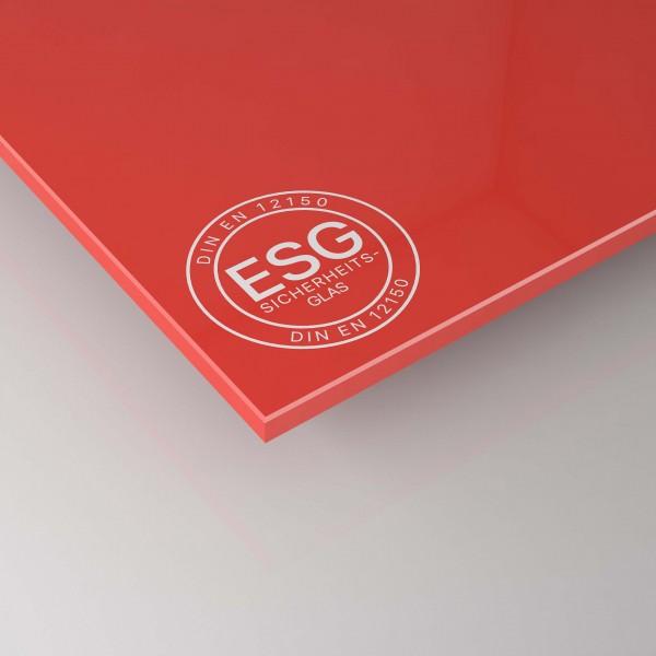 ESG Glas 4 mm - Rot