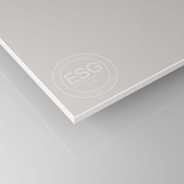 Weiß lackiertes ESG Glas SATINATO - 4 mm