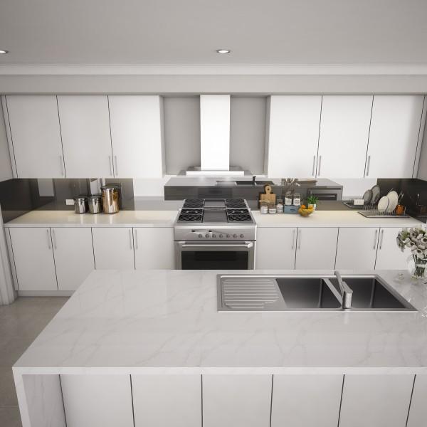 Küchenrückwand nach Maß - Schwarz REF 9005