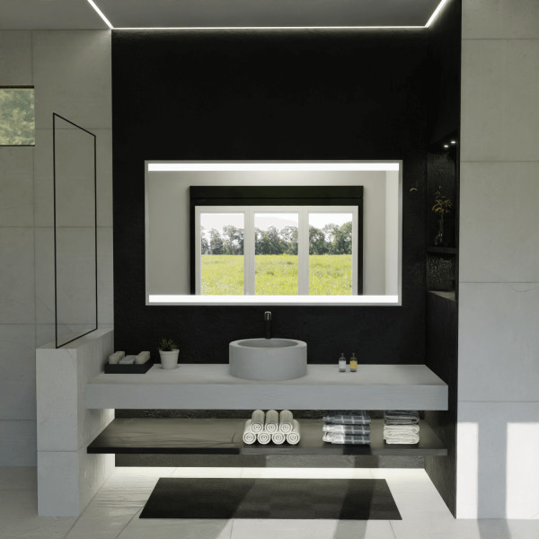 LED Spiegel mit Rahmen - Japan