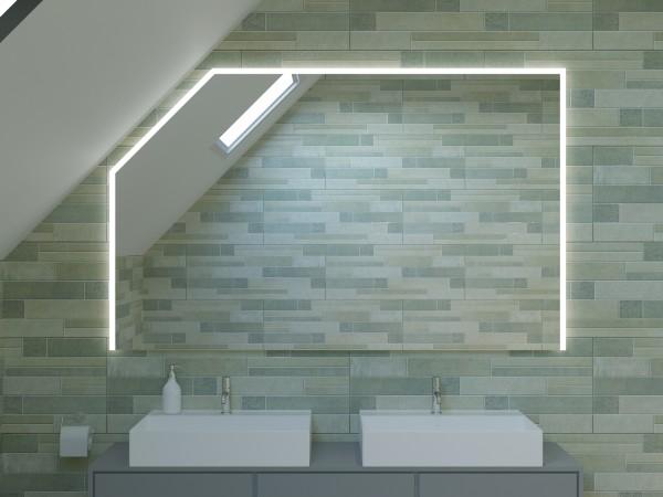 LED Badspiegel mit Dachschräge - Dubai