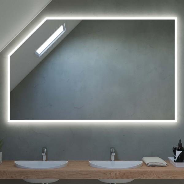Badspiegel mit Dachschräge nach Maß - Barcelona
