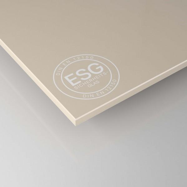 ESG Glas lackiert - Beige / Braun