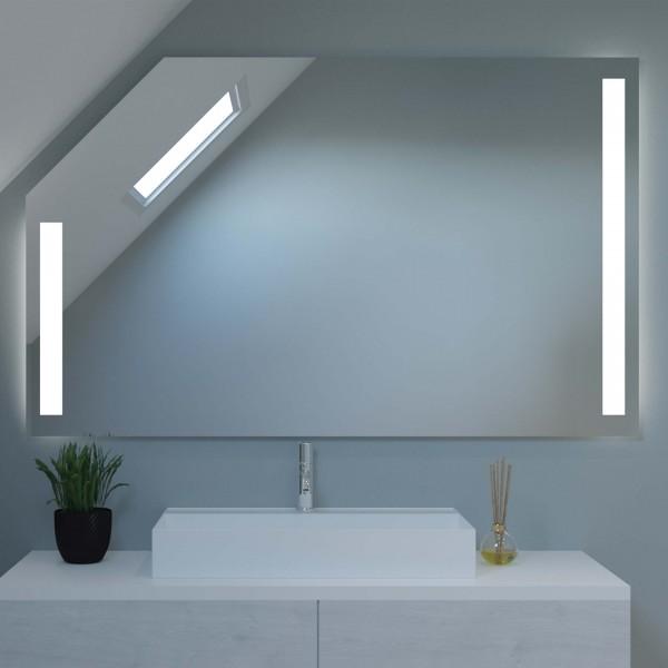 Badspiegel mit LED für Dachschrägen - Amsterdam