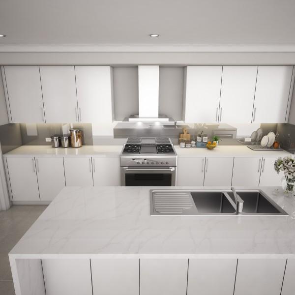 Küchenrückwand aus Glas - Dunkelgrau / Anthrazit