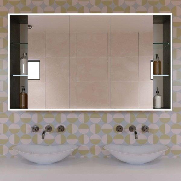 Badspiegelschrank mit Ablagefächern - Theo