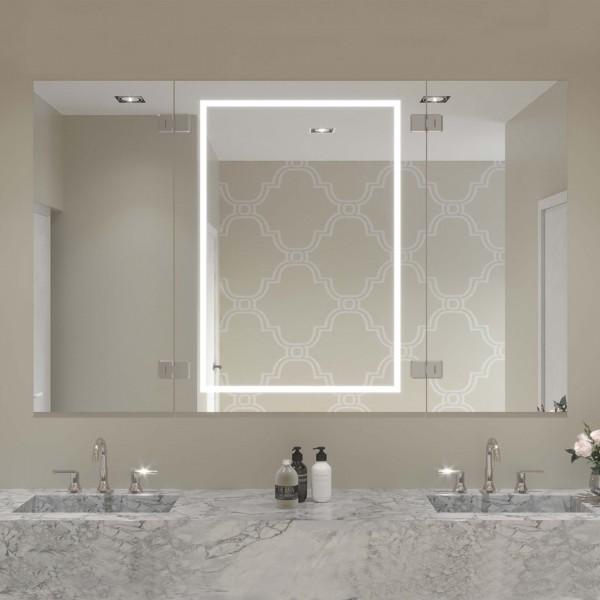 LED Badezimmerspiegel mit Klappelementen - Lucky