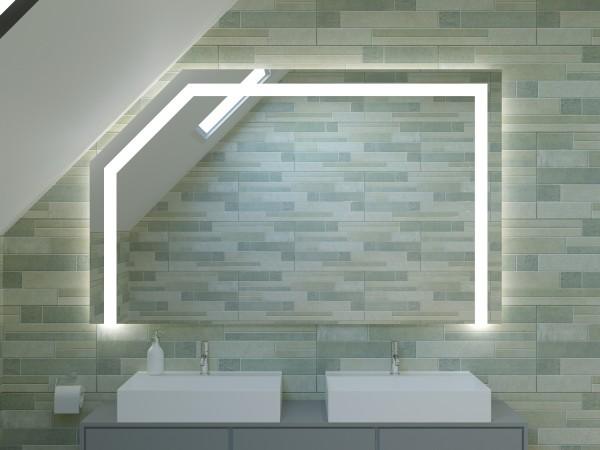 LED Badspiegel mit Dachschräge - New York