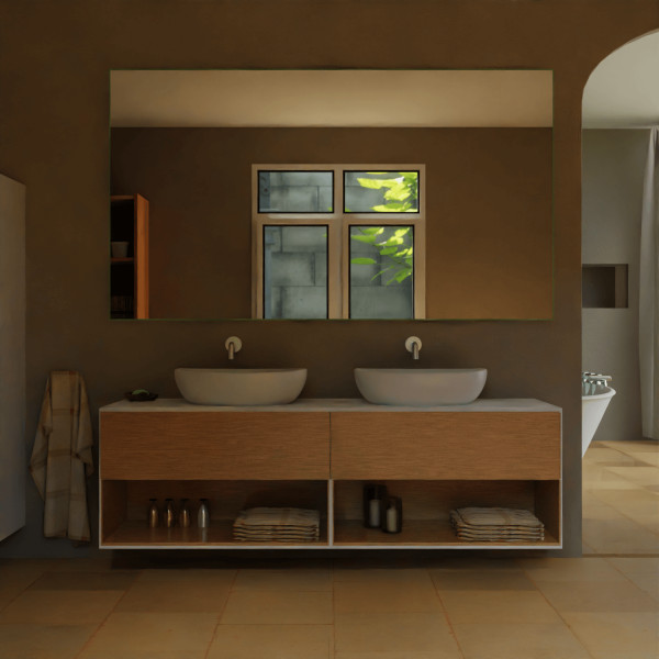 Badspiegel ohne Beleuchtung - Duisburg