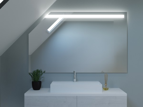 LED Badspiegel mit Dachschräge - Hongkong