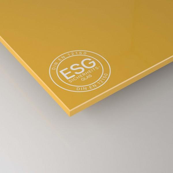 ESG Glas SATINATO nach Maß - Gelb