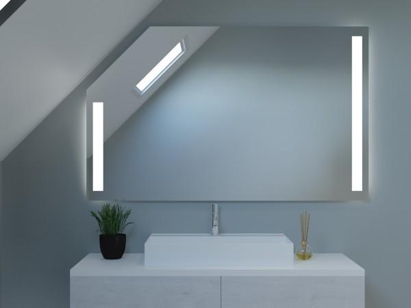 LED Badspiegel mit Dachschräge - Amsterdam