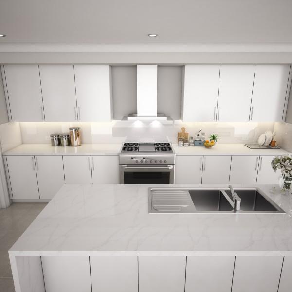 Küchenrückwand nach Maß - Alpinweiß REF 9003