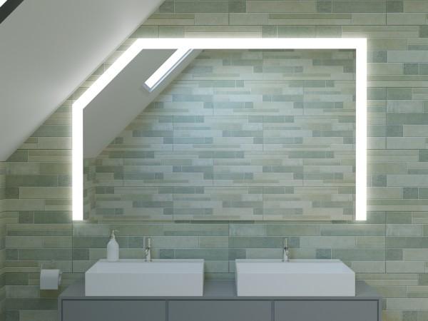 LED Badspiegel mit Dachschräge - London