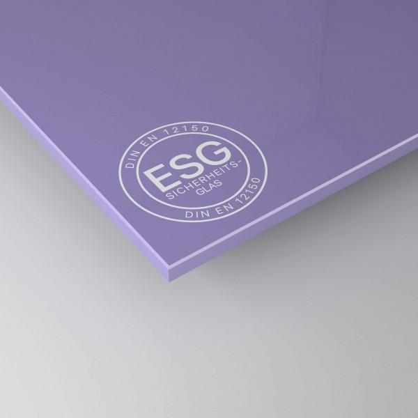 ESG Glas lackiert - Lila / Violett