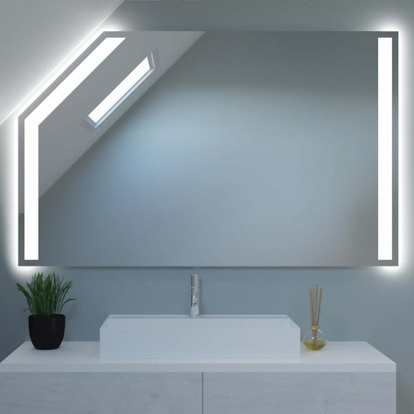 LED Badspiegel mit Dachschräge - Rom
