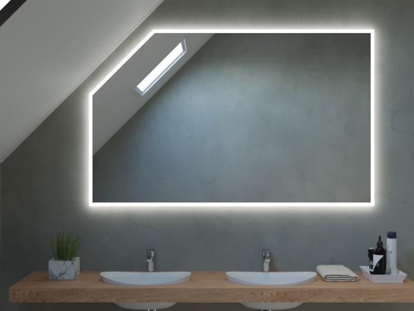 LED Badspiegel mit Dachschräge - Barcelona