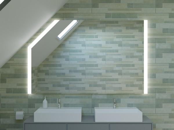 LED Badspiegel mit Dachschräge - Shanghai