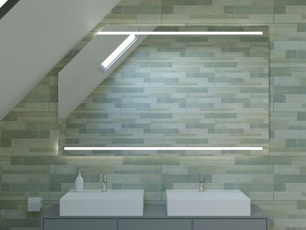 LED Badspiegel mit Dachschräge - Tokio