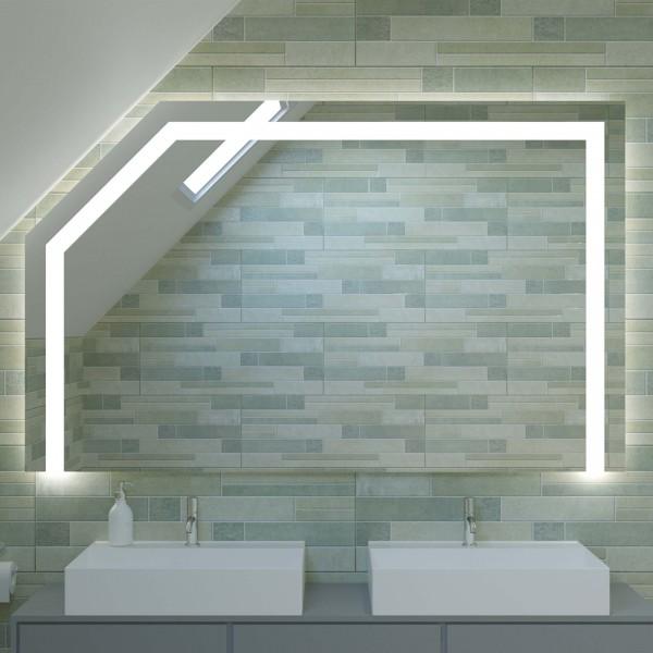 Badspiegel mit LED für Dachschrägen - New York