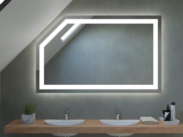 Spiegel für Dachschräge mit LED - Athen