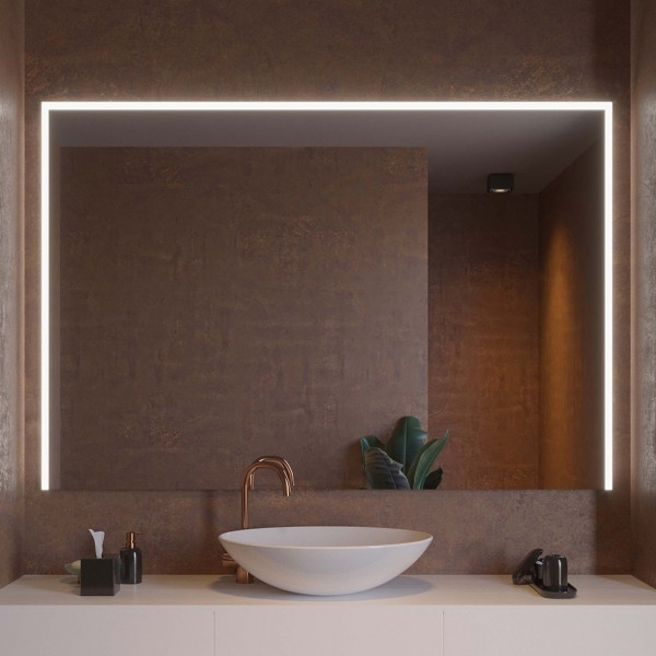 Badspiegel mit LED-Beleuchtung - Dresden